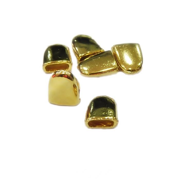 Ponteira de colagem Dourada M (04 unid.)- PCD002