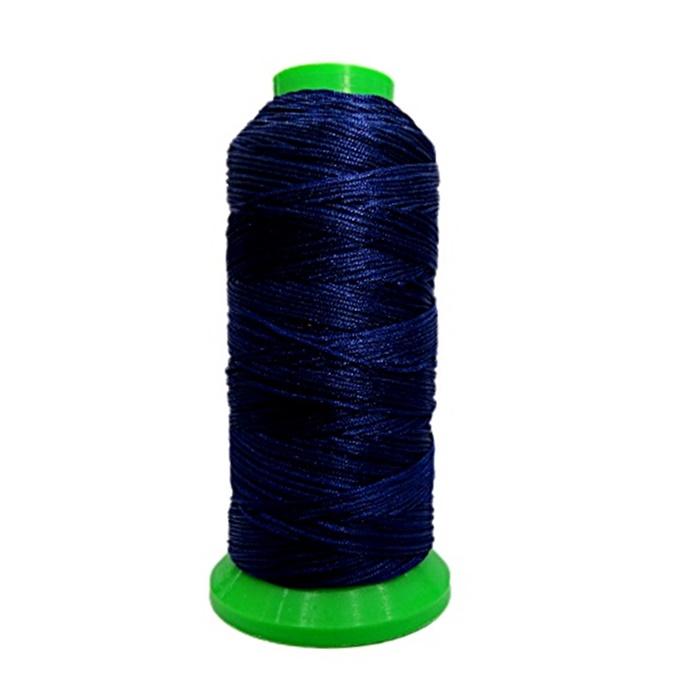 Cordão de seda fino azul marinho- FS001 ATACADO