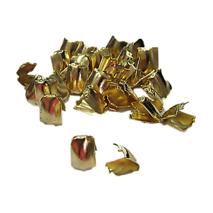 Ponteira de amassar Dourada G ( 250 unid.)- PCD005 ATACADO