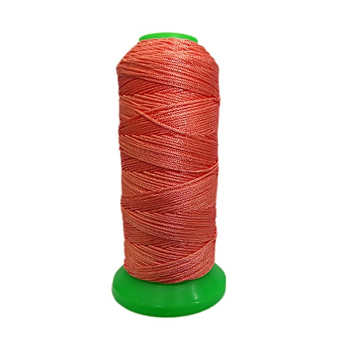 Cordão de seda fino salmão- FS003 ATACADO