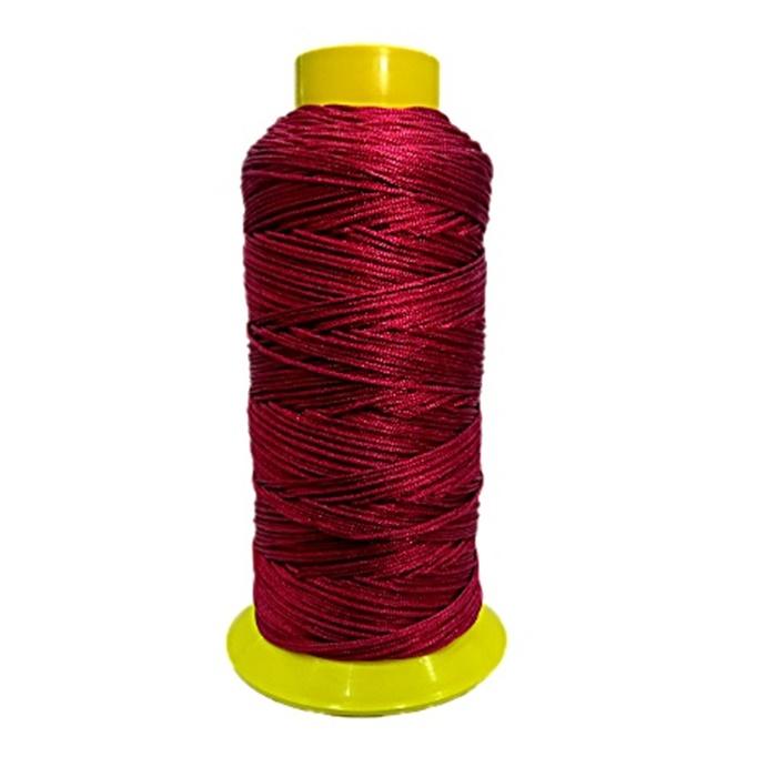 Cordão de seda fino vinho- FS008 ATACADO