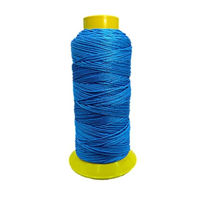 Cordão de seda fino turquesa- FS010 ATACADO