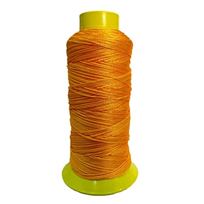 Cordão de seda fino laranja- FS011 ATACADO