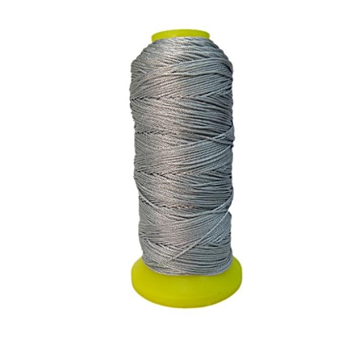 Cordão de seda fino cinza- FS015 ATACADO