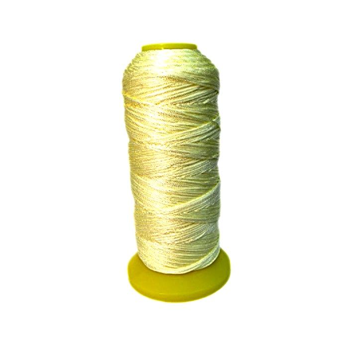 Cordão de seda fino bege claro- FS018 ATACADO