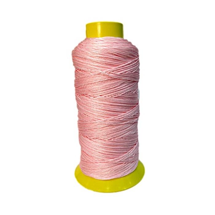 Cordão de seda fino rosa- FS019 ATACADO