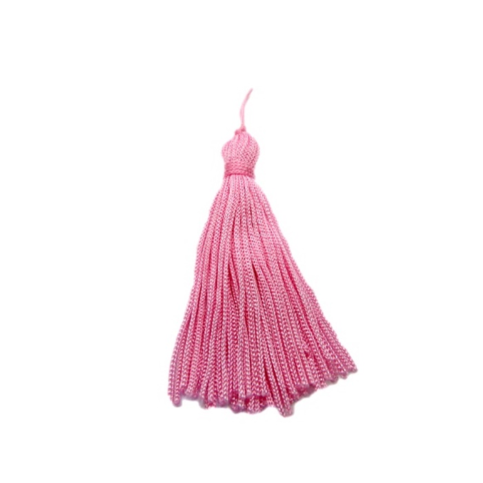 Pingente de seda rosa médio (10 unid.)- FRAN004