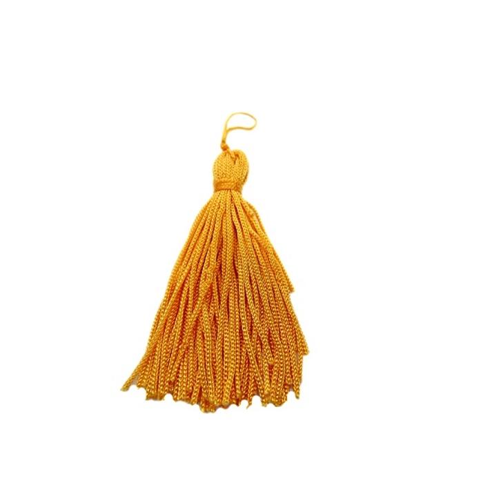 Pingente de seda amarelo escuro (100 unid.)- FRAN010 ATACADO