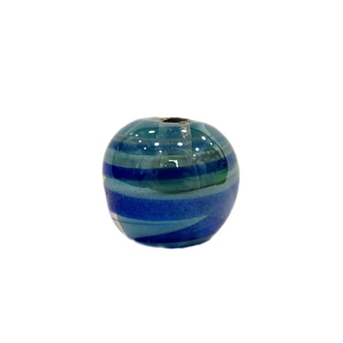 Bola de murano G  azul/ turquesa irisado- MU050