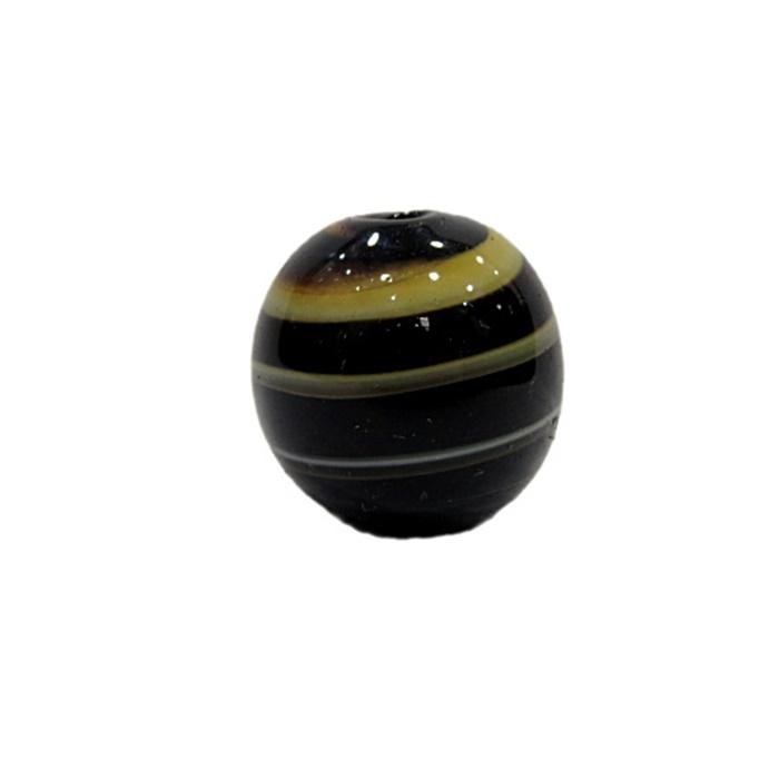Bola de murano G  creme/ preto- MU054