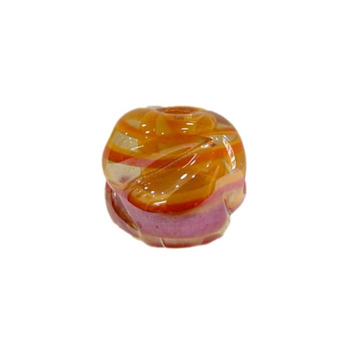 Meteoro de murano G amarelo gema/ vermelho irisado- MU257