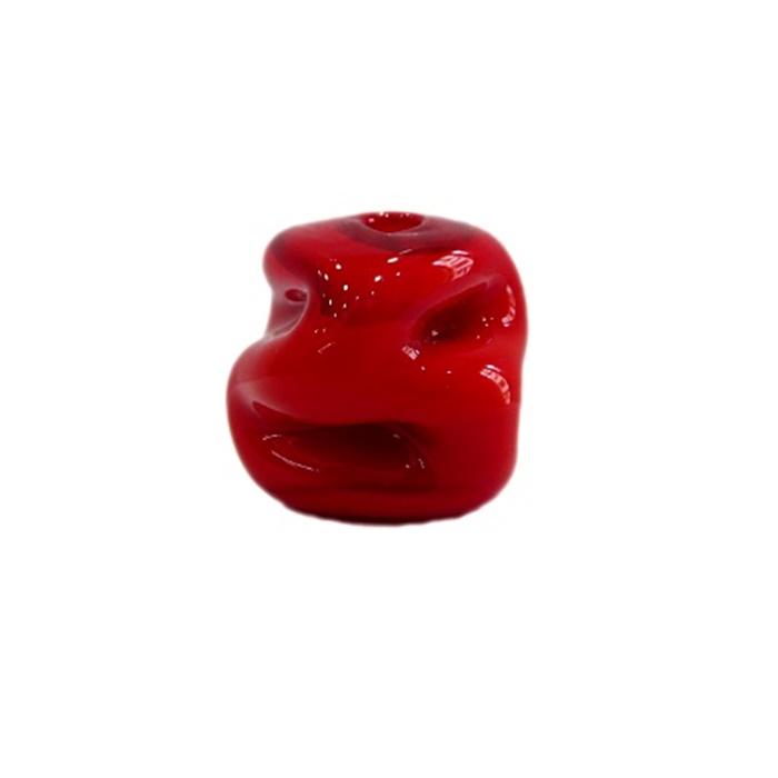 Meteoro de murano G vermelho leitoso- MU296
