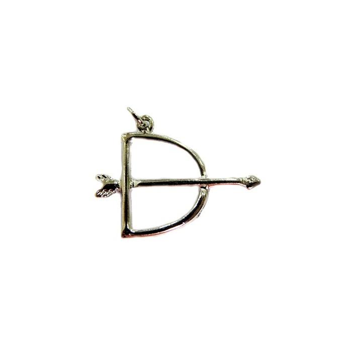 Pingente ferramenta Pequena arco e flecha orixá níquel- PFN005