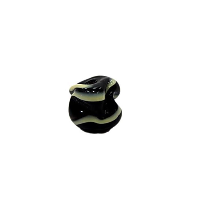 Meteoro de murano P preto\ creme (10 unidades) - MU333