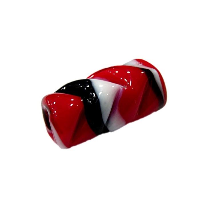 firma de murano mola vermelho\ preto\ branco- FM075