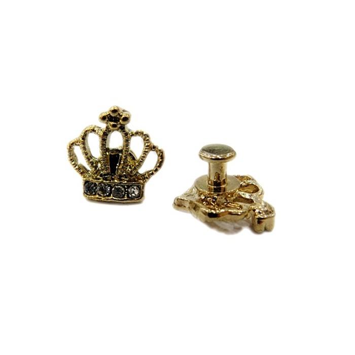 Piercing Mini coroa dourada (Par)- PID050