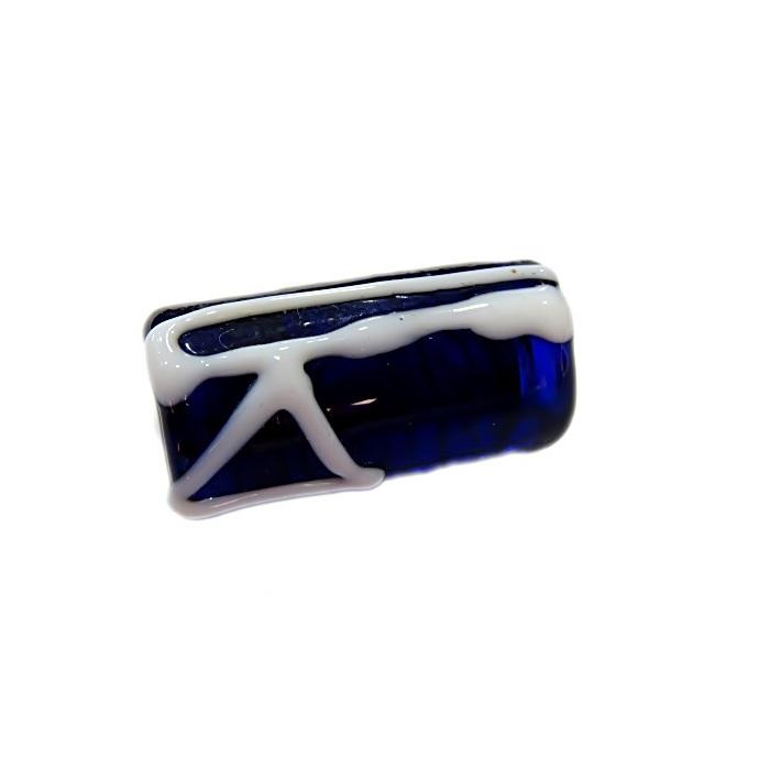 Firma de murano azulão c\ machado- FM042