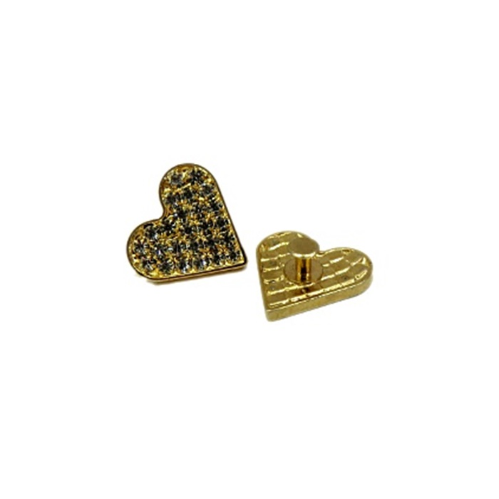 Piercing Coração dourado I  (Par)- PID54