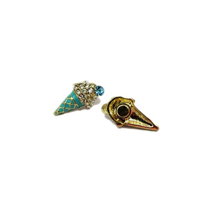 Piercing Sorvete dourado (Par)- PID058