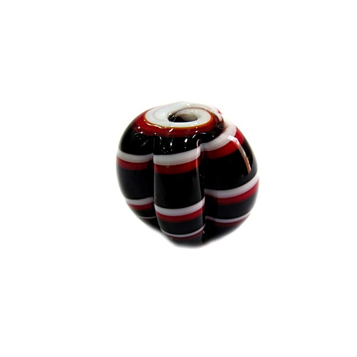 Pitanga de murano G preto/ vermelho/ branco - MU418