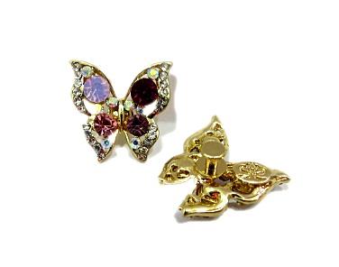 Piercing dourado Borboleta III (Par)- PID063