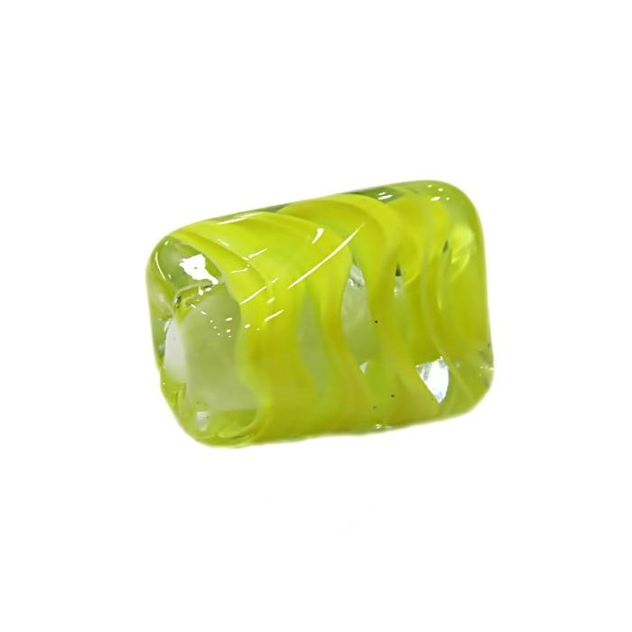 Facetado de murano GG amarelo cristal- MU481