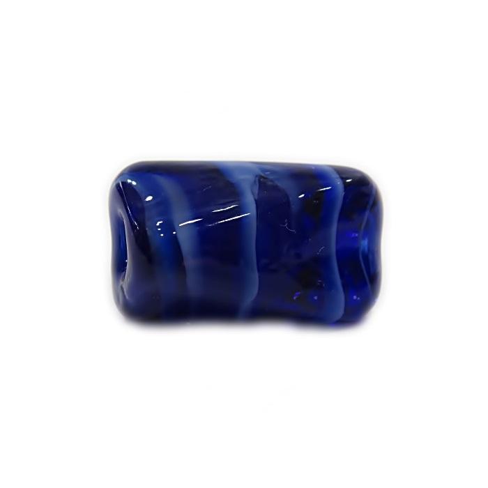 Facetado de murano G azulão/ branco -MU540