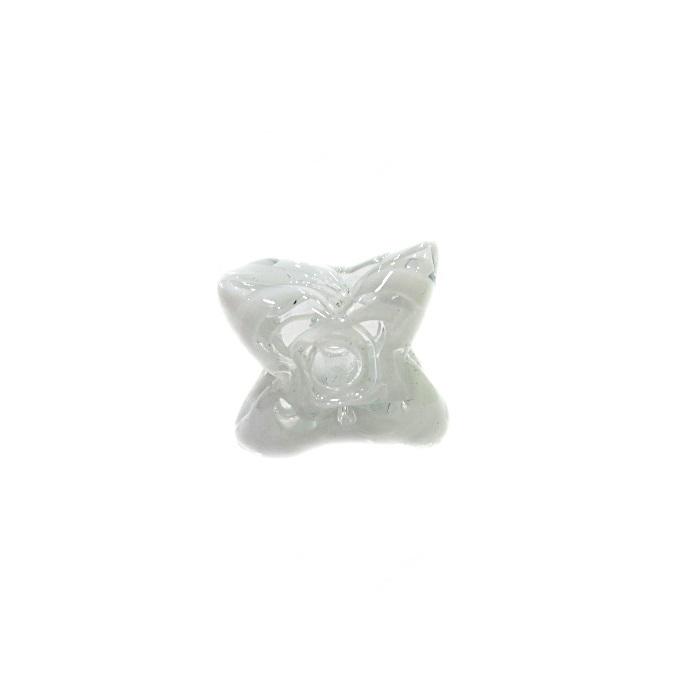 Estrela de murano branco- MU596