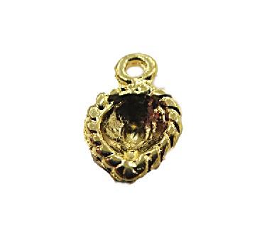 Pingente Dourado Coração Trab -20 peças PDT053
