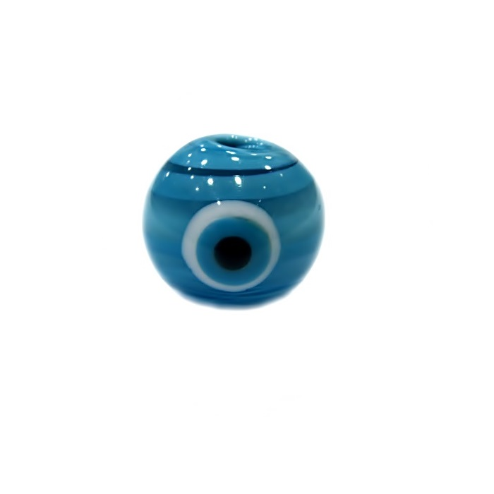 Olho grego M azul turquesa/ turquesa- OG059
