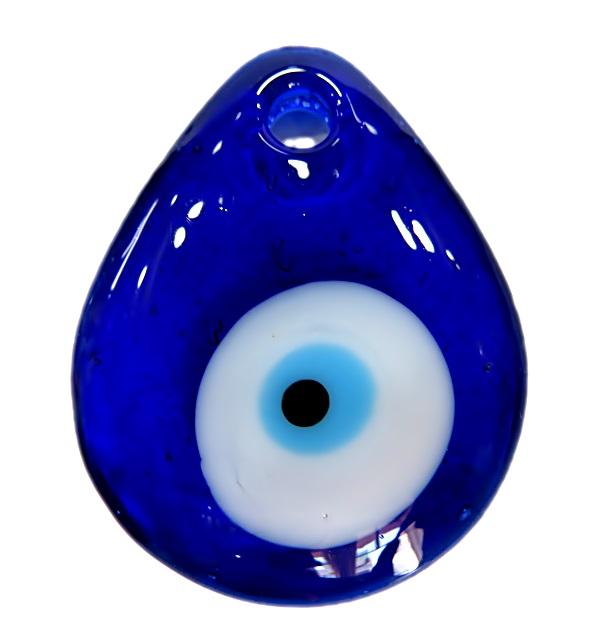Olho grego pingente gota grande azulão- OGP014
