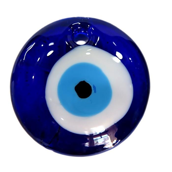 Olho grego pingente redondo GG azulão- OGP016