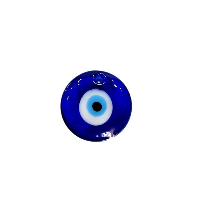 Olho grego pingente redondo M azulão- OGP018