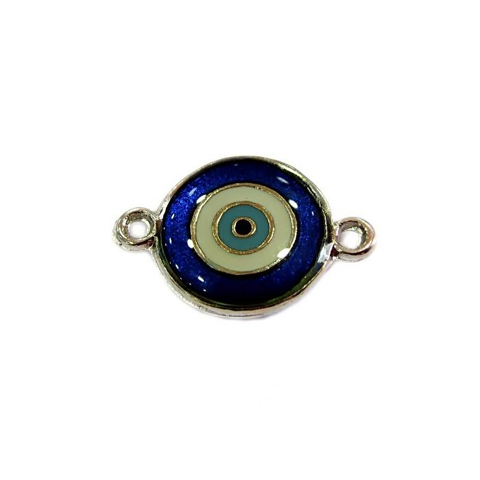 Entremeio olho grego níquel azulão- EN053