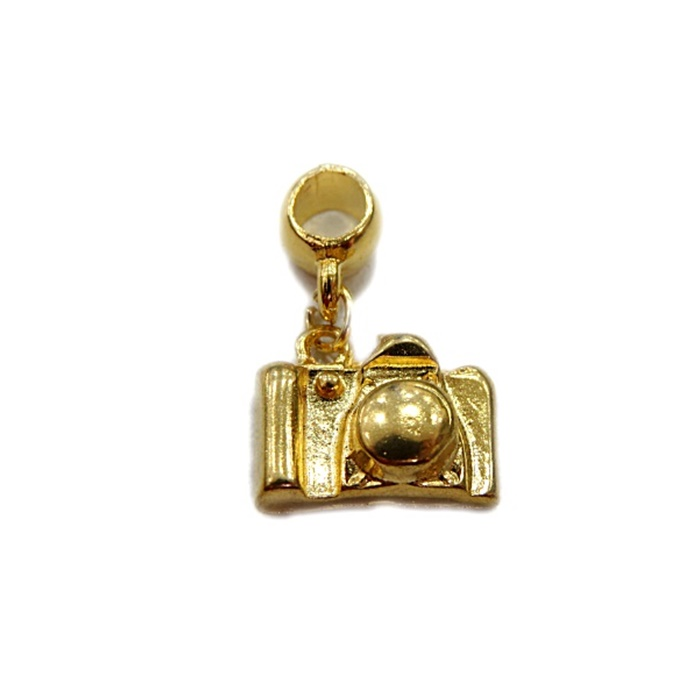Berloque Dourado Maquina Fotografica BER019