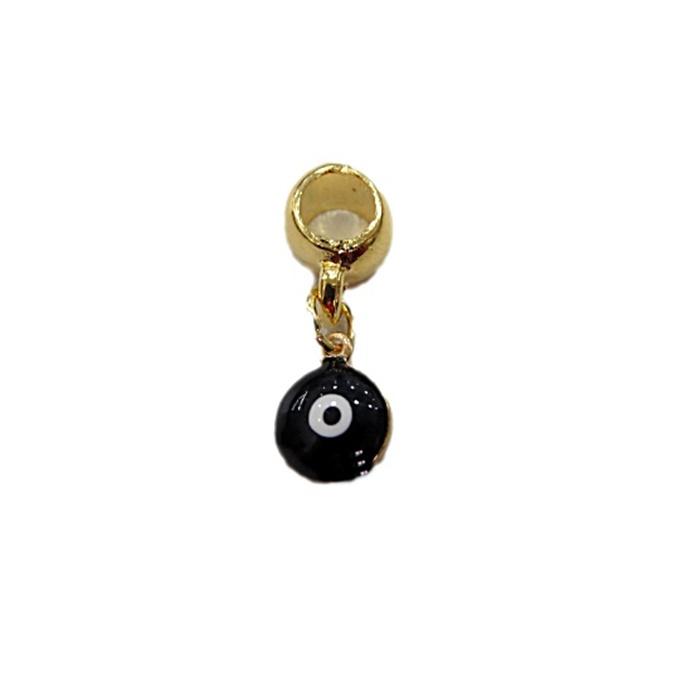 Berloque Dourado Olho Grego Resinado  Resinado BED002