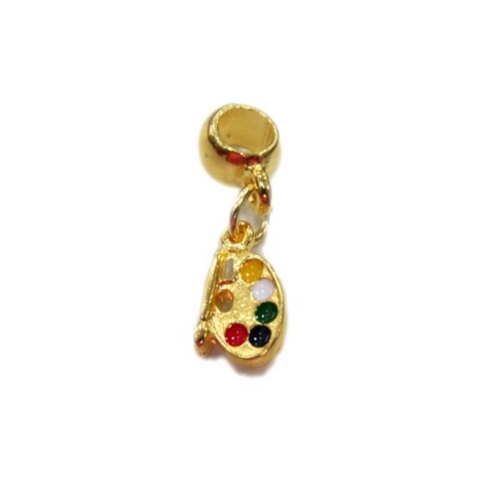 Berloque Dourado Aquarela BED085