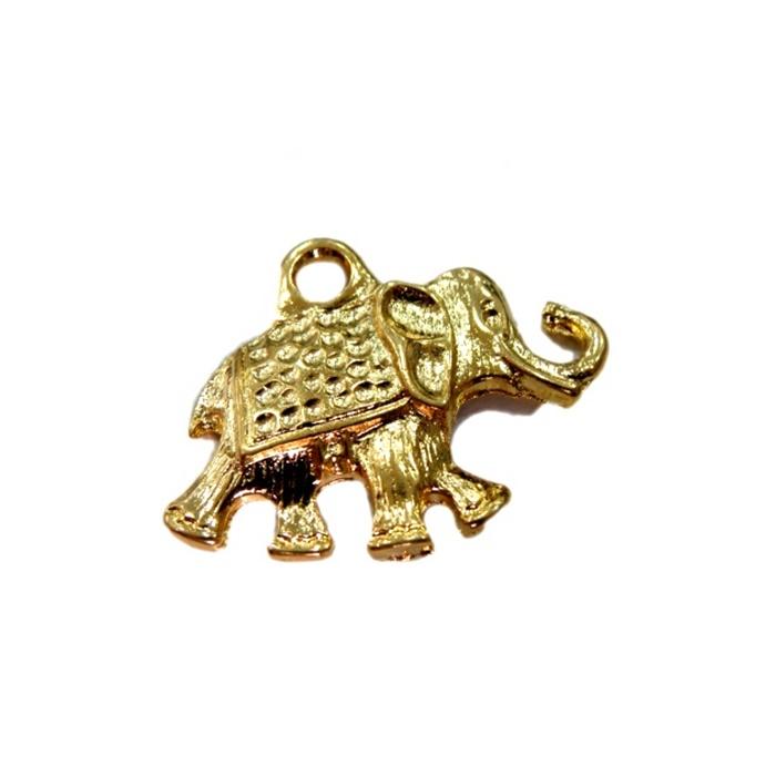 Pingente Elefante grande dourado- PTD025