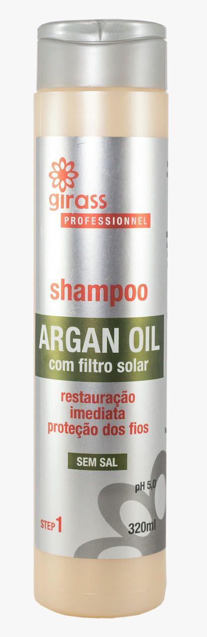 Shampoo Restaurador Argan Girass 320ml