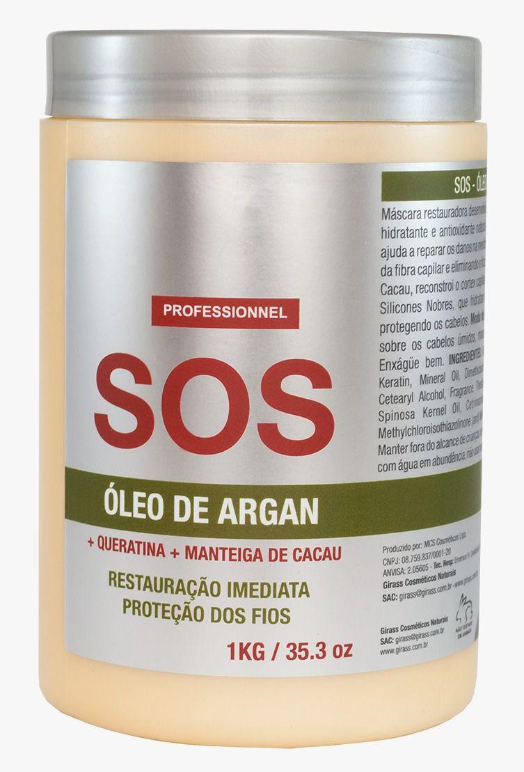 SOS Argan Oil Girass 1000g