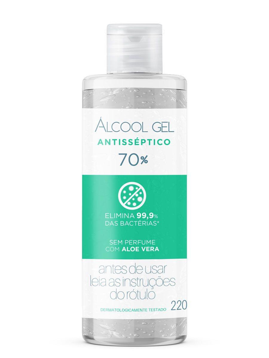 Álcool Gel 70% - Aloe Vera 220g