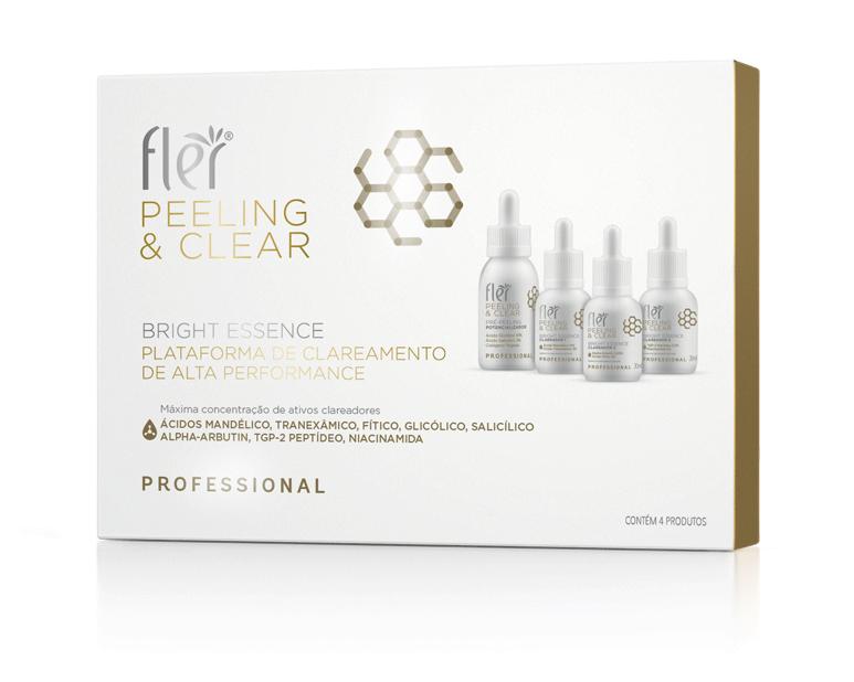 Kit Bright Essence Peeling e Clear Plataforma De Clareamento De Alta Performance Flér