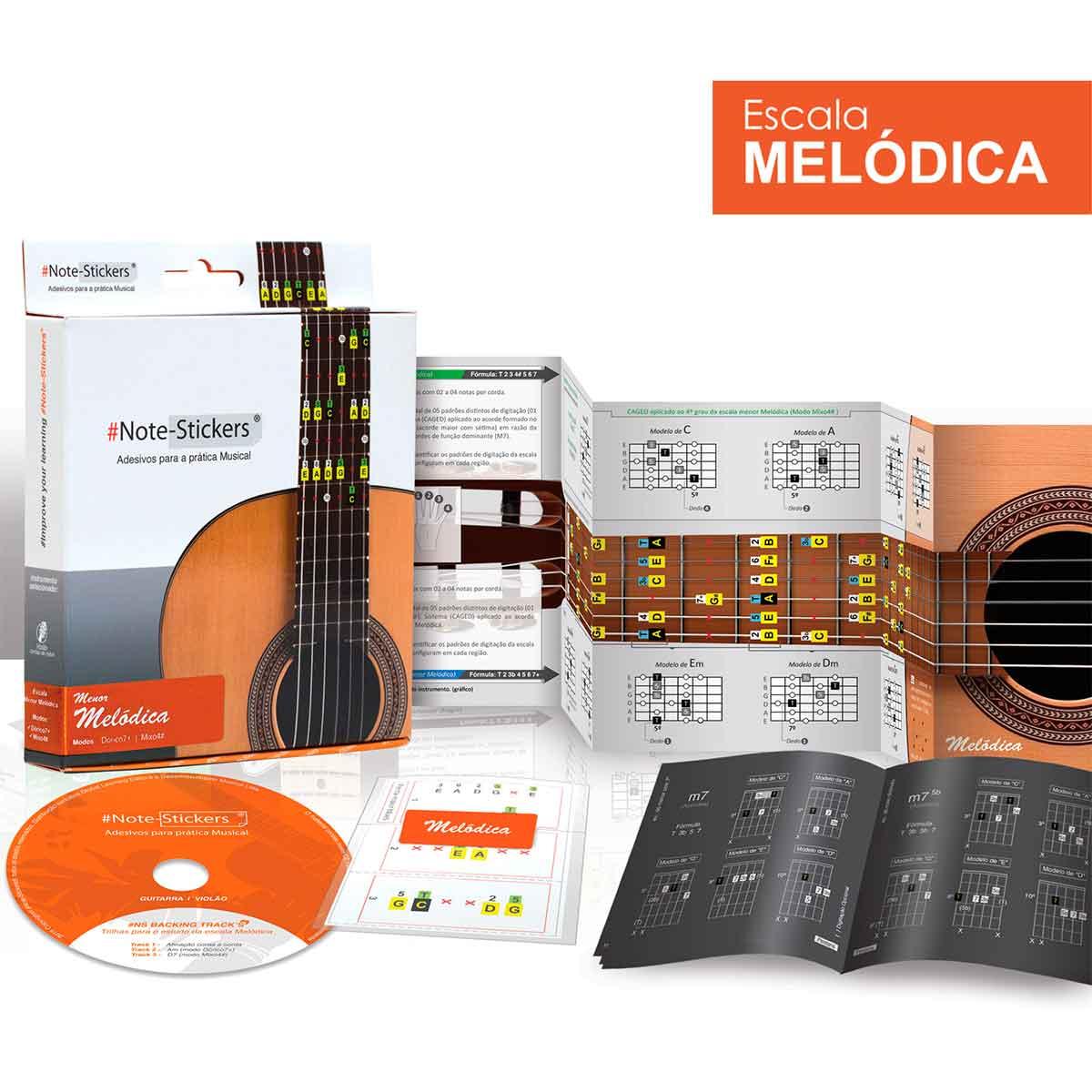 Adesivos Note-stickers Para Violão Nylon Escala Melódica