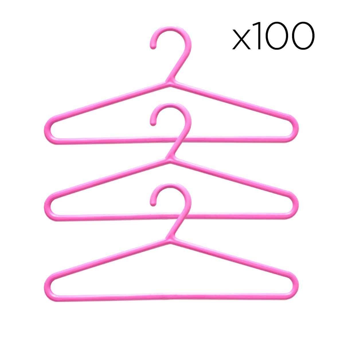 Kit 100 Cabides Infantis Pequeno Bebê Criança Guarda Roupas