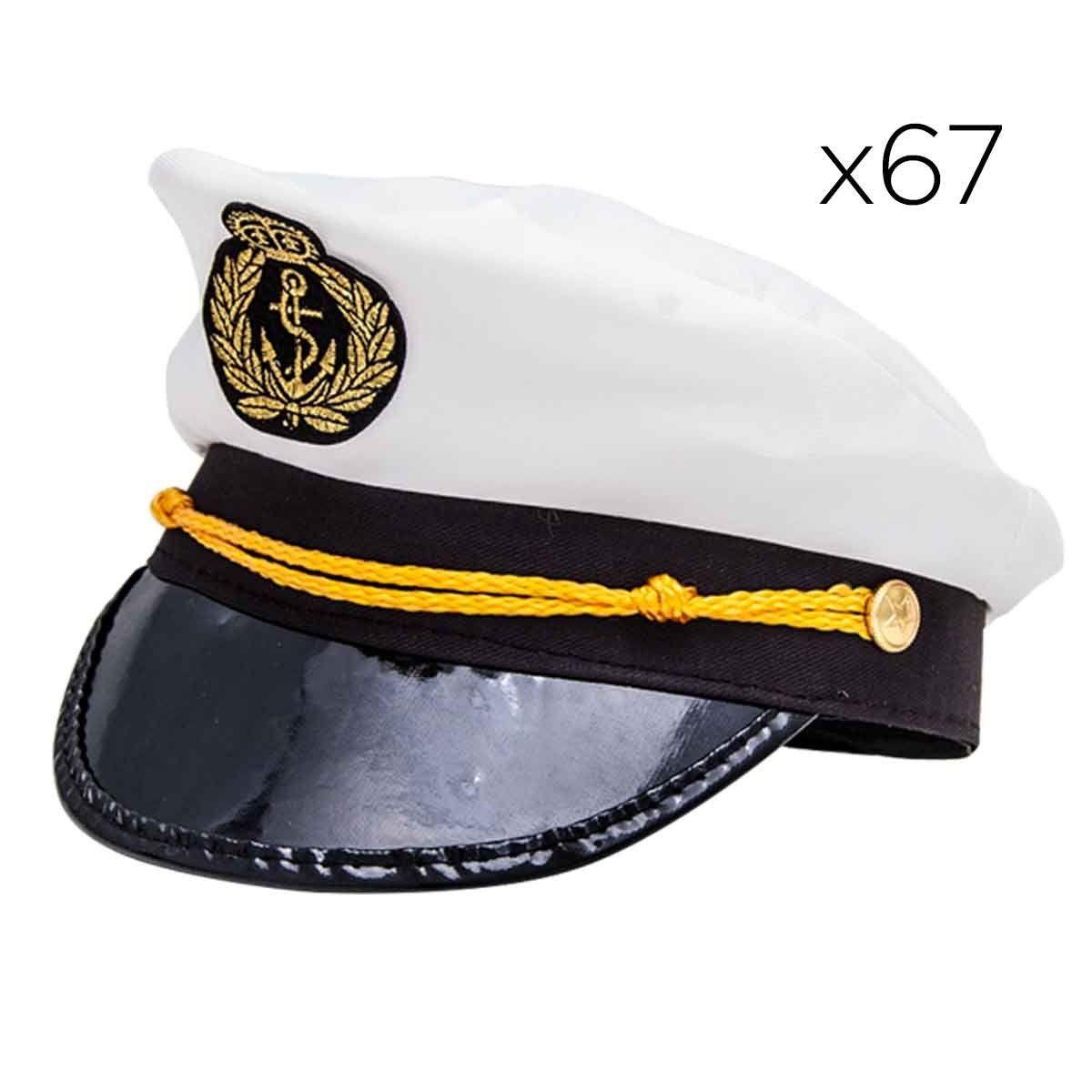 Kit 67 Chapéu Marinheiro Quepe Boina Capitão Fantasia Festa Cosplay