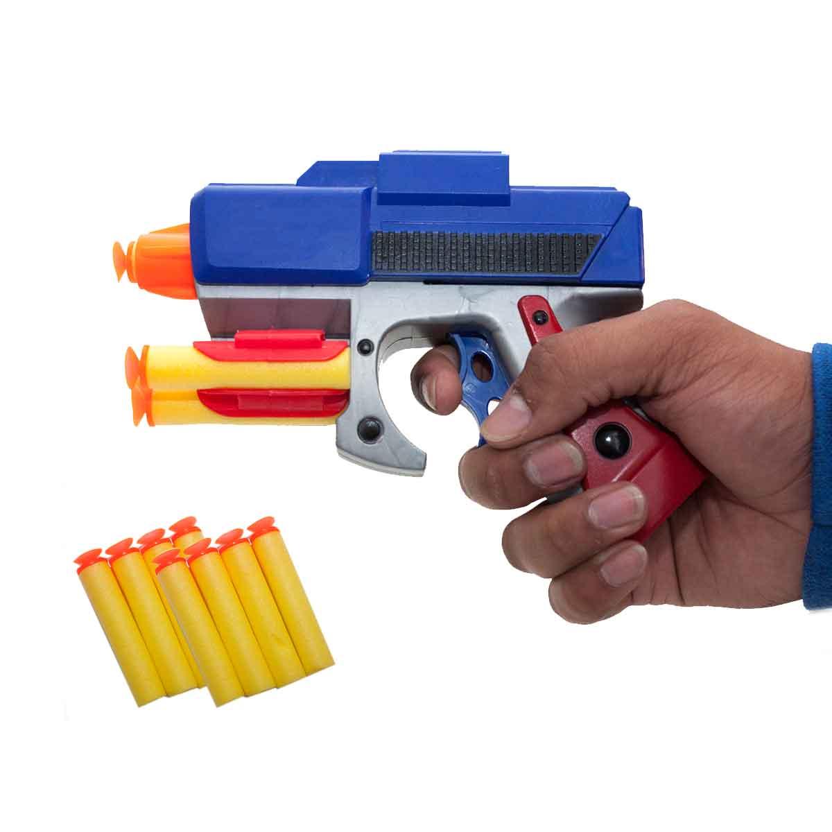 Pistola Brinquedo Infantil Pressão Dardos Criança Arma