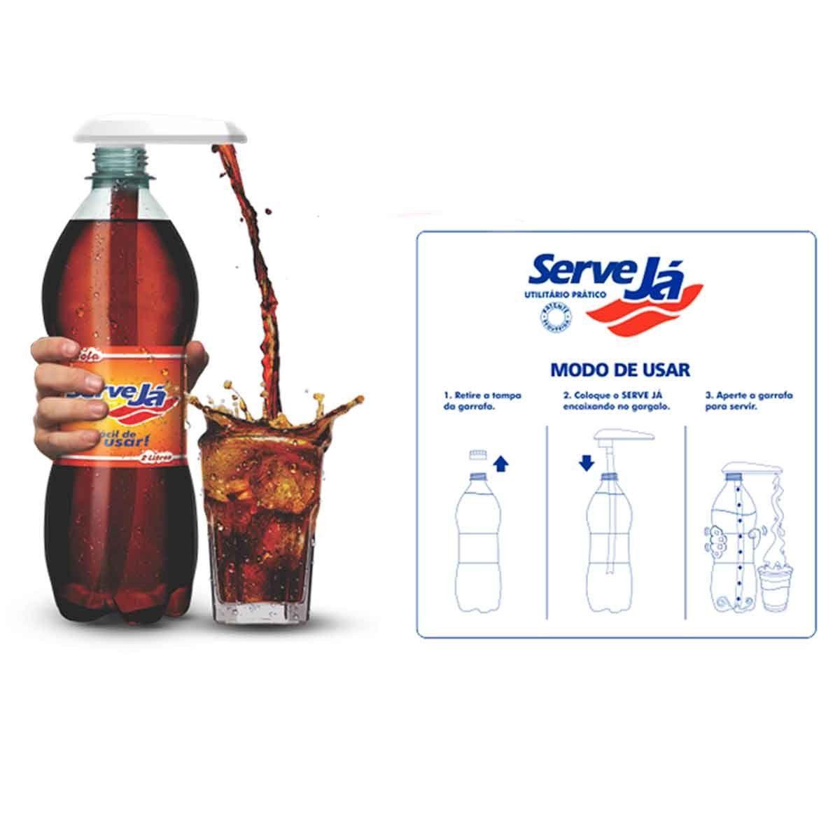 Serve já Servidor para Garrafa Pet Refrigerante Suco Água
