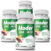 Moder Diet Maxx - Emagrecedor   Original   500mg - 04 Potes