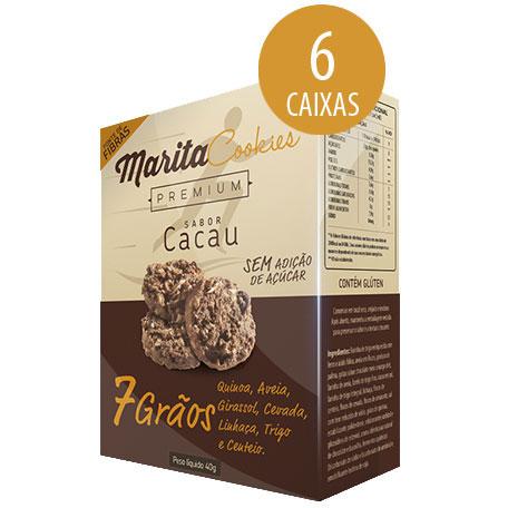 Marita Cookies Premium Cacau - 40g (6 Caixas)  - LA Nature