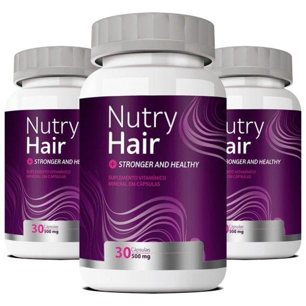 Nutry Hair  Original   Vitamina para Cabelos - 03 Potes  - LA Nature